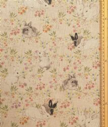 Farm yard animals Fabric 80/% Cotton 20/% Poly material metre upholstered finish